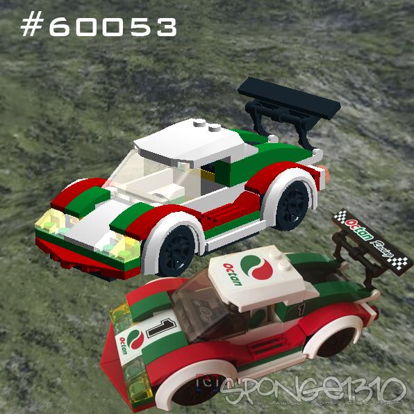 60053 City Racecar digital vs real