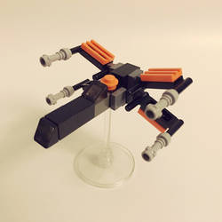 Poe's microscale LEGO X-Wing