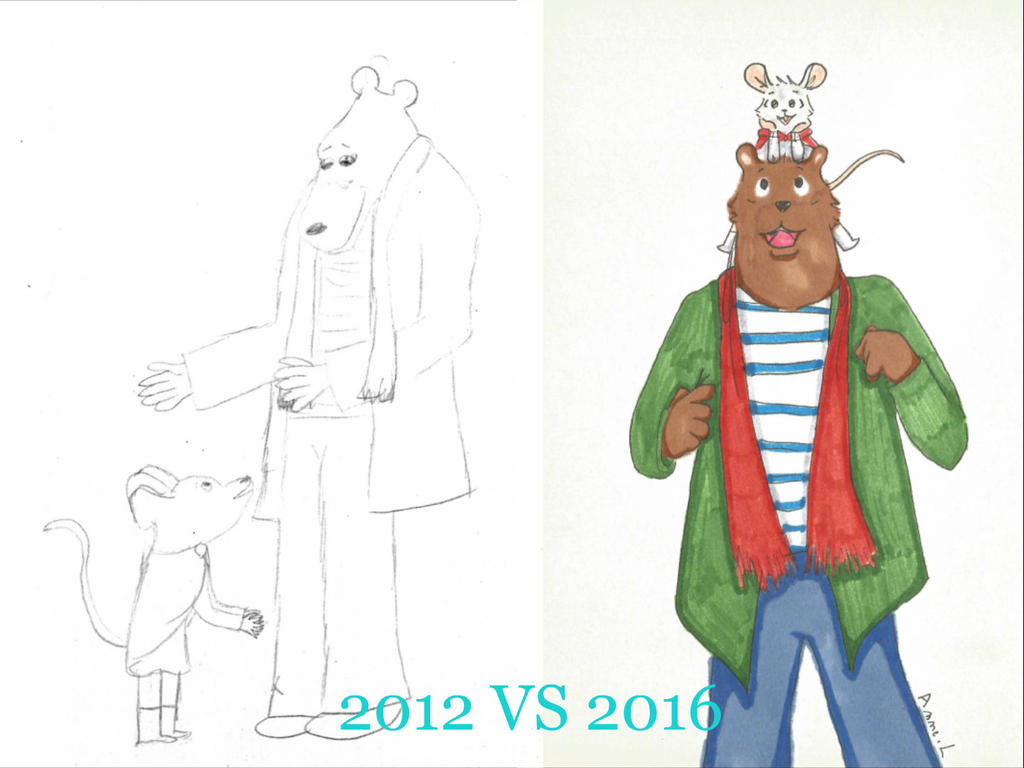 Ernest And Celestine 2012 Vs 2016 By Ondine25 On Deviantart