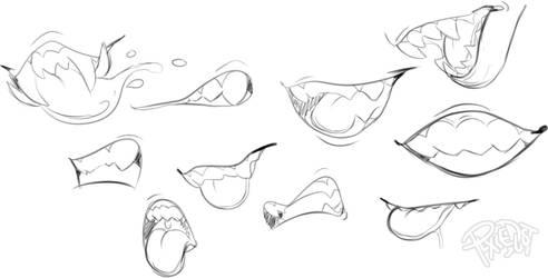 Teeth sketch sheet by PlXlEDUST