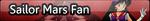 Sailor Mars Fan Button by toryhendriethjr