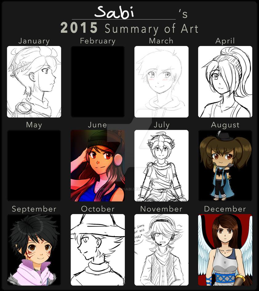 Sabi's 2015 Summary of Art by PkmnTrainerSabi