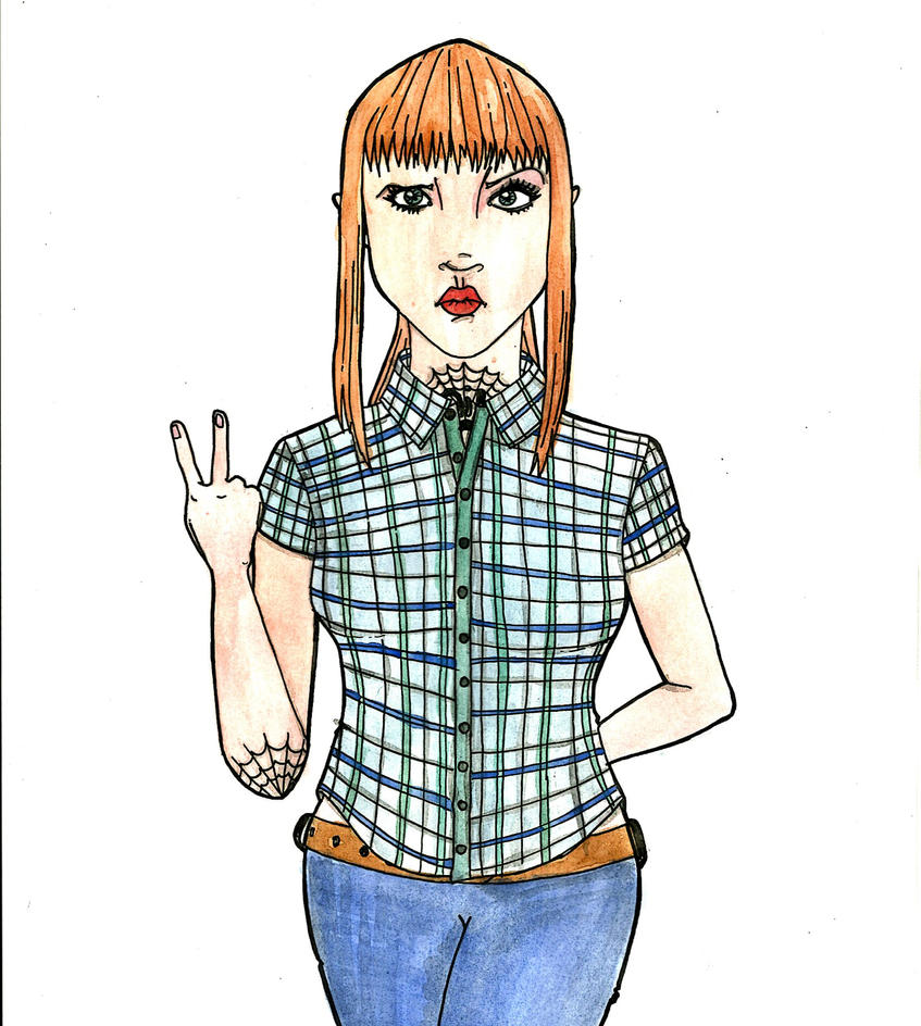 Skinhead girl by ~Purplequeen