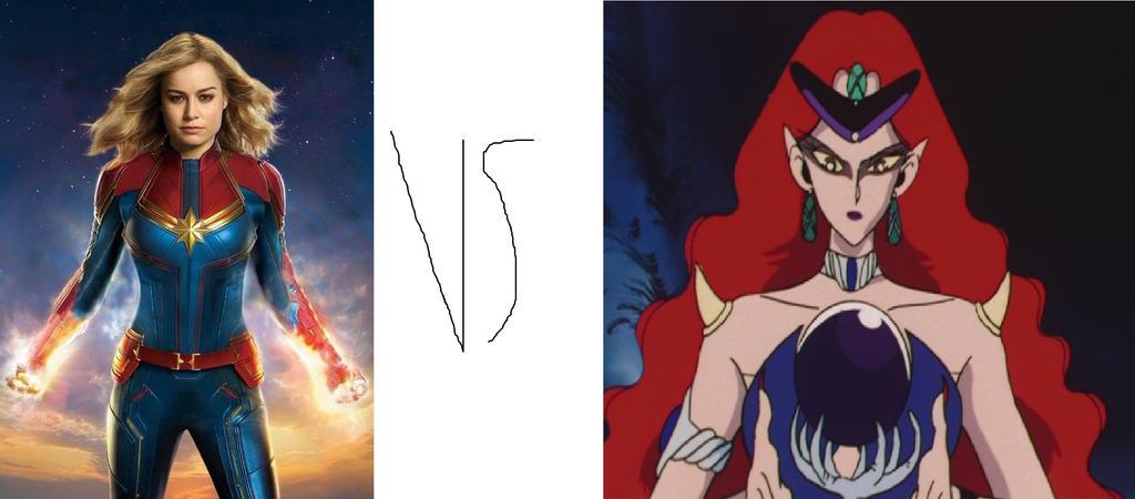 Captain Marvel (Marvel) vs Queen Beryl by tron30