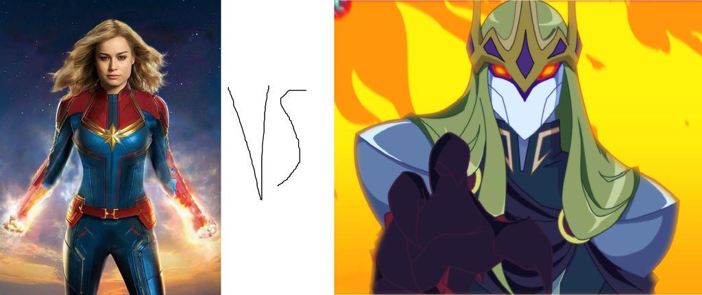 Captain Marvel (Marvel) vs Gramorr by tron30