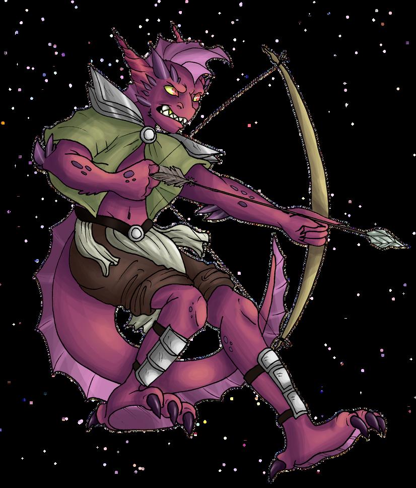 Dragon Lizard Warrior by Kikitwou