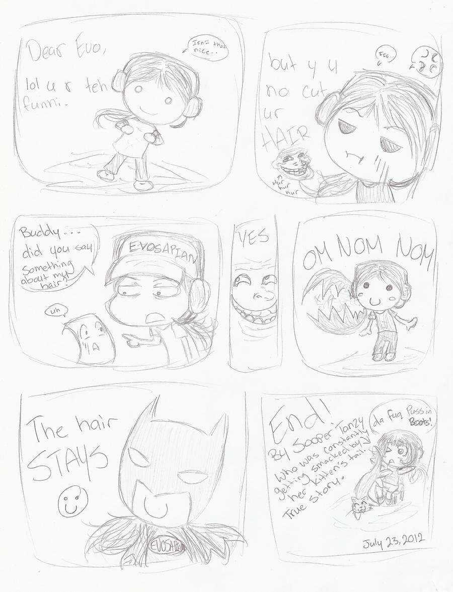 MrEVOLVF - DAT HAIR (A random comic) by Necyria