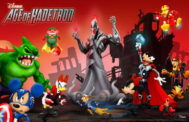 The Disvengers Age of Hadetron by darrinbrege