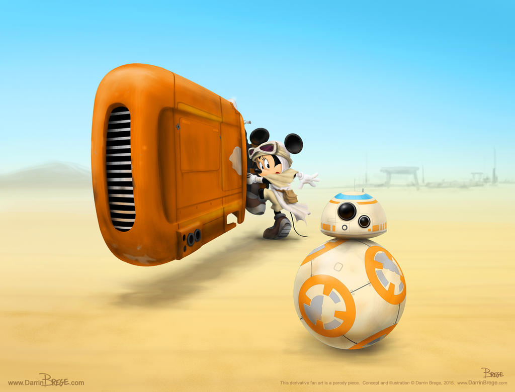 minnie mouse as rey from the force awakens trailer by darrinbrege