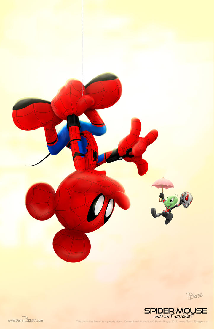 SpiderMouse and Ant Cricket by darrinbrege
