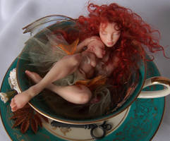 Teacup Fairy and baby 1 by polymer-people