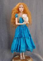 Alice in Wonderland art doll by polymer-people