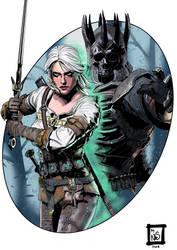 The Witcher 3 Ciri-Eredin by NoctisLumenArt