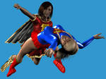 Supergirl Vs Mary Marvel by LordSnot
