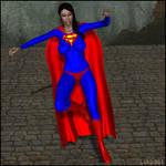 Superwoman Swooping Down 01