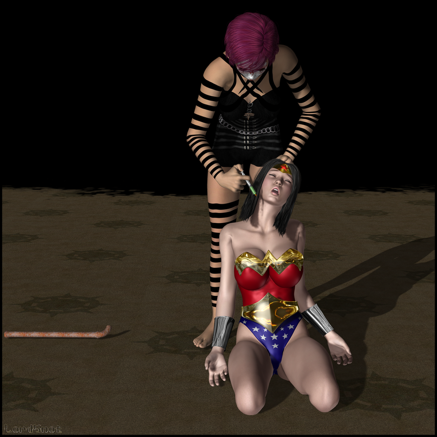Wonder Woman Defeated Deviantart Wonder woman given the needle by lordsnot