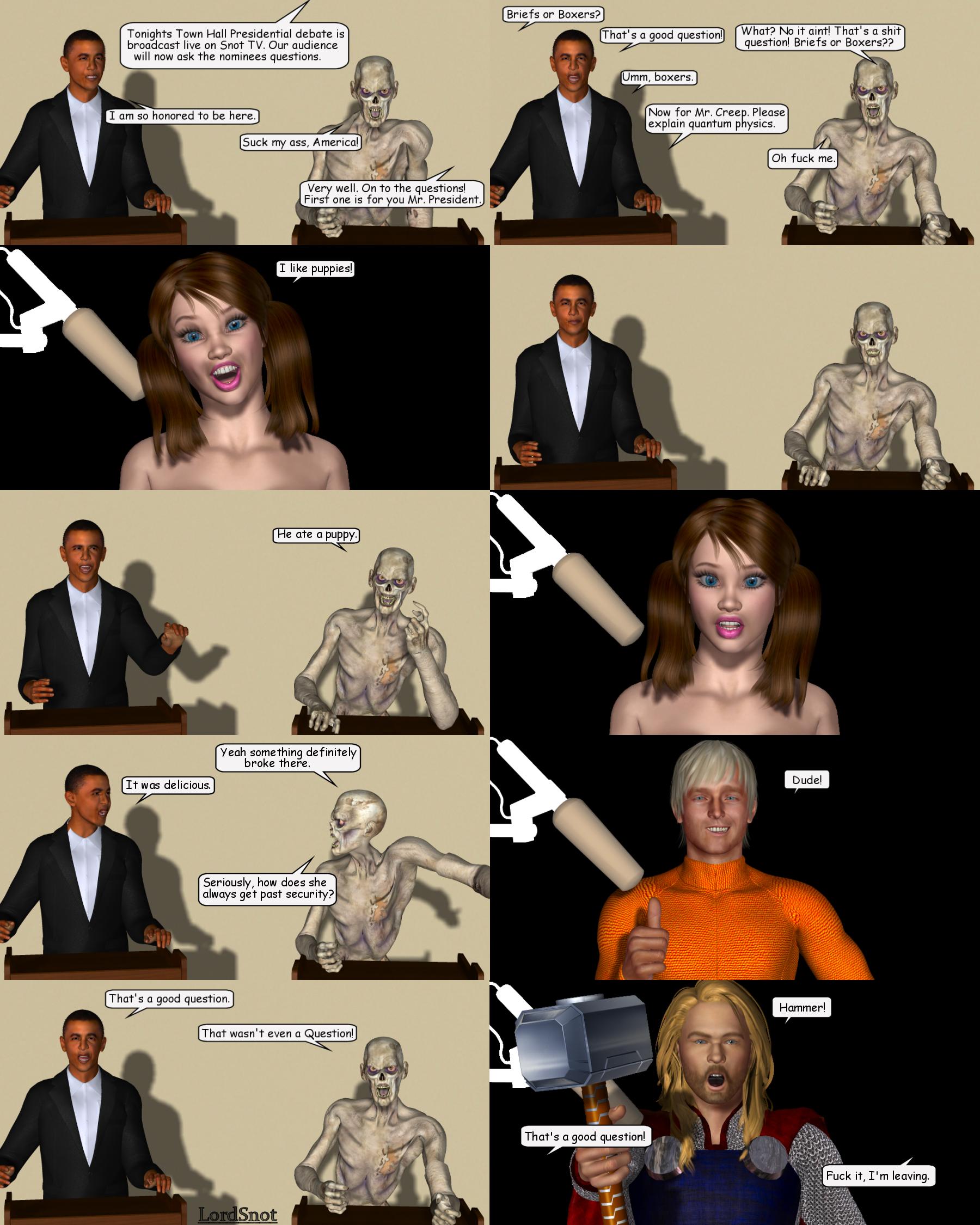 Presidential Debate 2012 by LordSnot