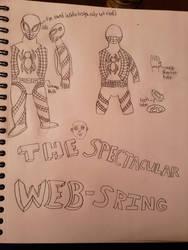 Sketch Work of Spidersona: Web-Spring