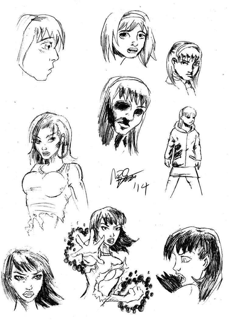 Sketch Dump - Style Practice by MarcusSmiter
