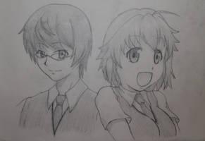 Jin and Misaki from Sakurasou
