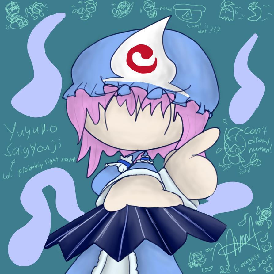 Yuyuko Saigyouji (Stickman/Stickwomen?) by GamerSaga