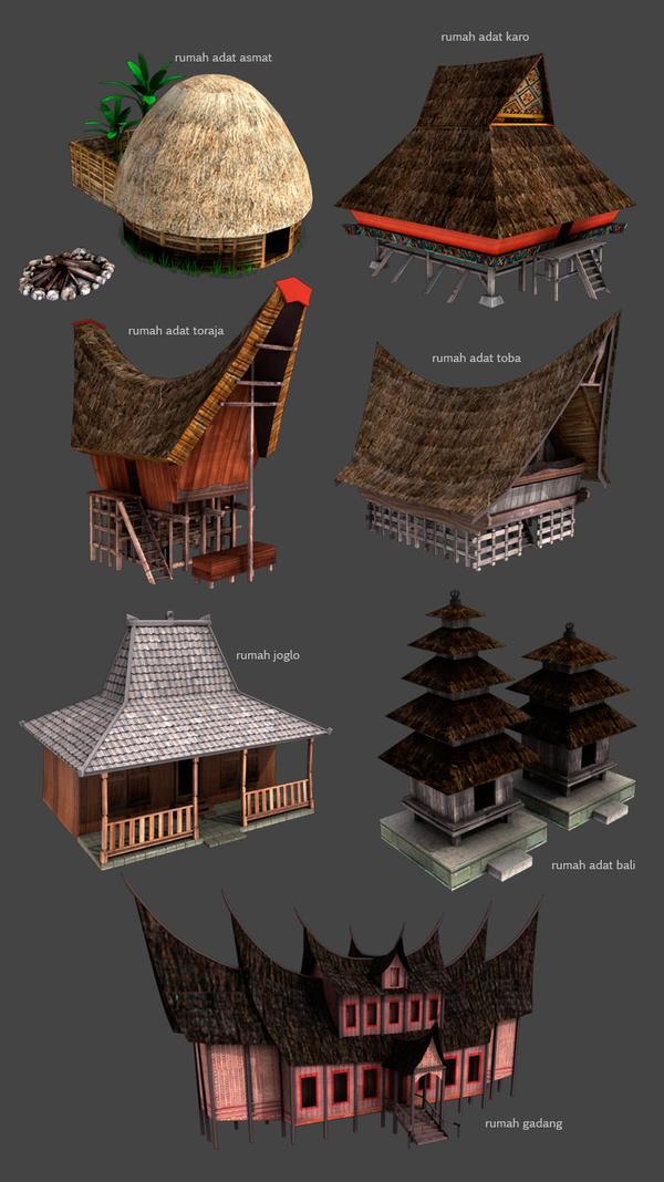 rumah adat indonesia by dwiirawan