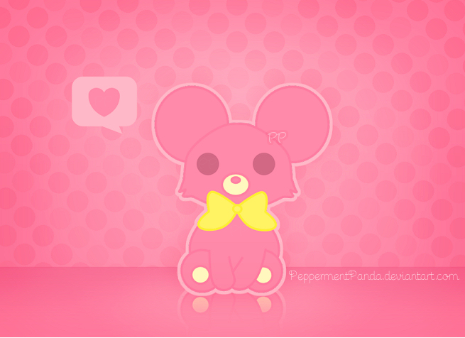 deviantART: More Like Rilakkuma Wallpaper - pink by sugusdelima
