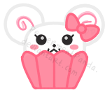 PeppermentPanda Mini Cupcake by PeppermentPanda