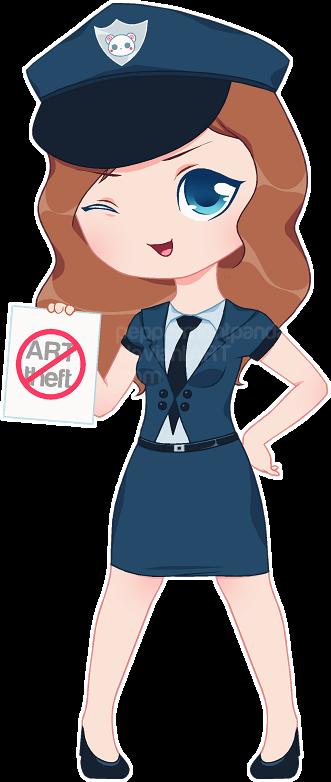 DeviantArt Cop Sakura by PeppermentPanda