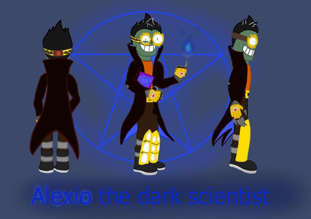 Alexio the dark scientist  by megalon1337
