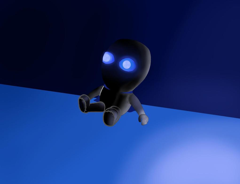Spyro's new blue eyed doll by megalon1337