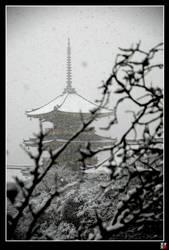 Pagodas in Snow I