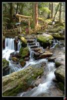 Wakasa Waterfall by tensai-riot
