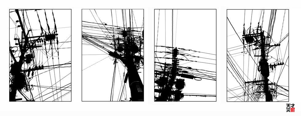 kyushyu telephone pole series by tensai-riot