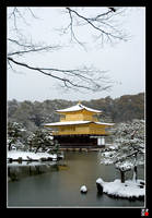 Kinkakuji in the SNOW by tensai-riot