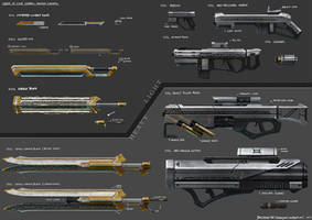 Order of Light Weapon Series by FrostKnight-IcE