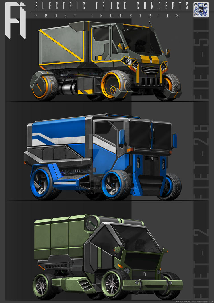 Electric Truck Concepts by FrostKnight-IcE
