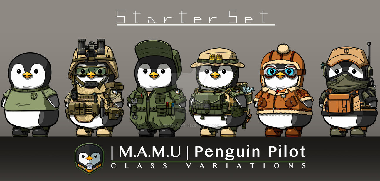 |M.A.M.U| - Penguin Pilot, Starter Set by FrostKnight-IcE