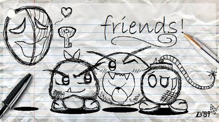 SMB: Sketchin' the Squad! by Bowser81889