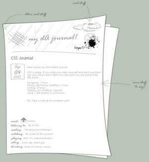 Journal CSS design