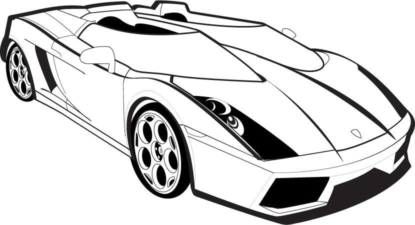 Lamborghini Gallardo Outline by DaseinBlackzAngelTan on