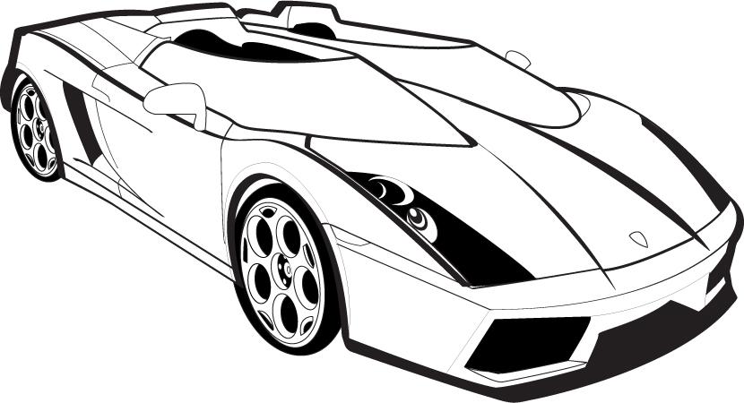 Lamborghini Gallardo Outline By Daseinblackzangeltan On Deviantart