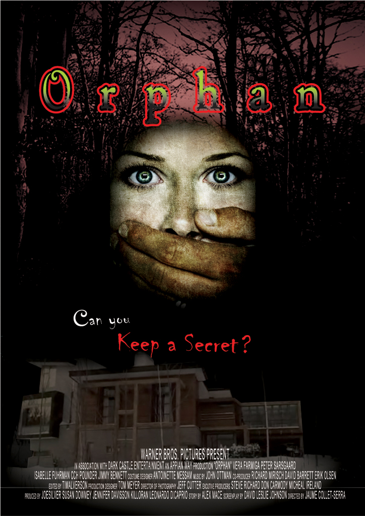 Orphan Movie Poster Design by DaseinBlackzAngelTan on