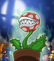 PIRANHA PLANT PIPES UP! by CinSensura