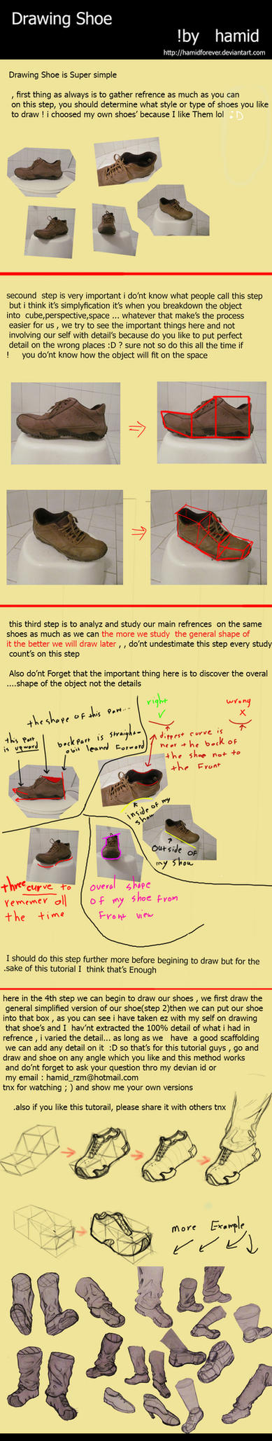 How To Draw Shoes Ez ! by HamidForEver