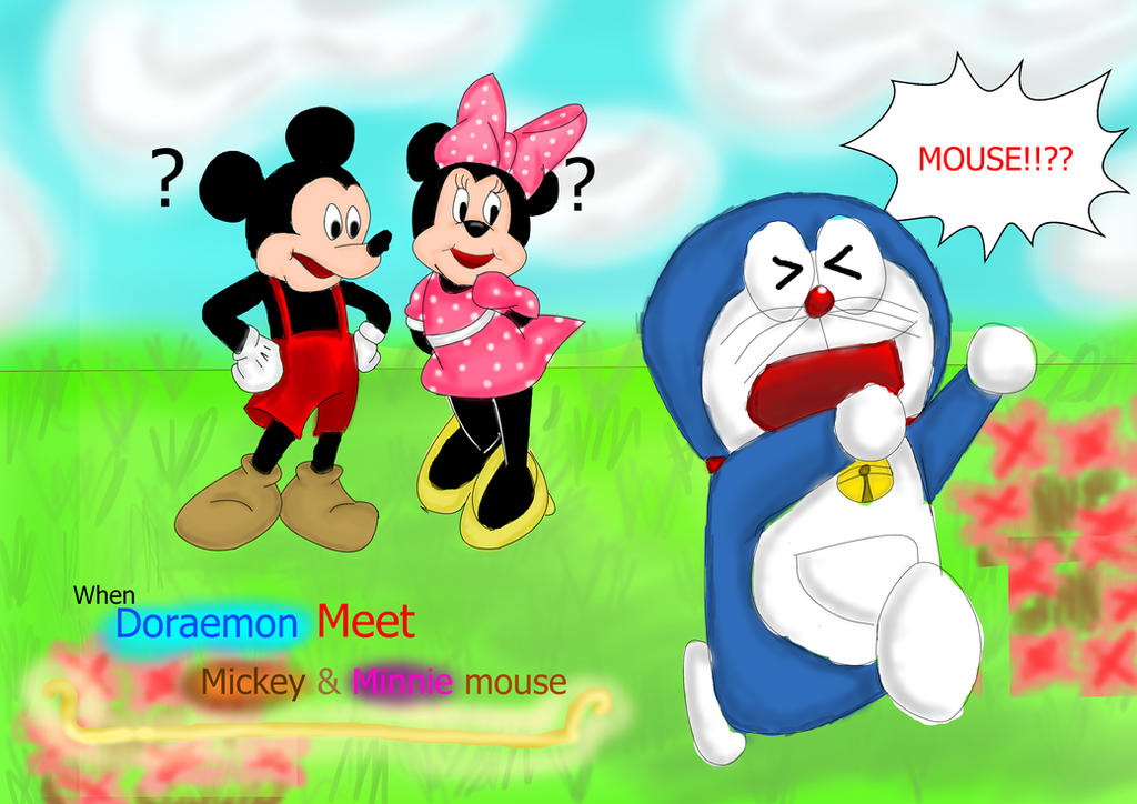 When Doraemon Meet with Mickey n Minnie Mouse~ by SooyoungChua