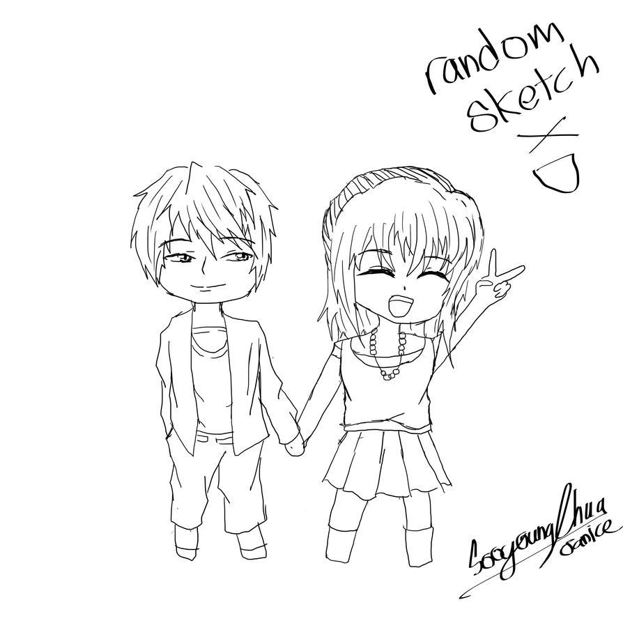 random sketch XD by SooyoungChua