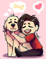 Mark and Chica by lyssacat