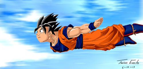 Goku Flight Day by Tavion-Ezeilo