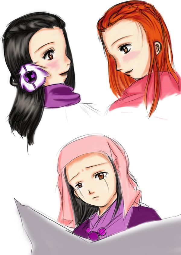 Dahlia and iris by Pastel-Dream